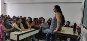 A session on Importance of Cyber Security Cosurses by Ms. Krishita Mehta Alumnae of 2017-18