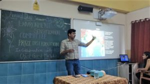 Talk on climate change has been organize for fybsc on Tuesday 14th August 2018 by Mr. Sudhir Shetty.