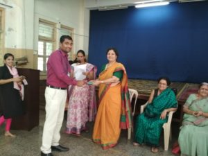 Mr.Nitin Pawar and Ms.Shilpa Surulkar were felicitated by Shrddhanand Mahila ashram for social work in teaching field on the occasion of Teachers day.