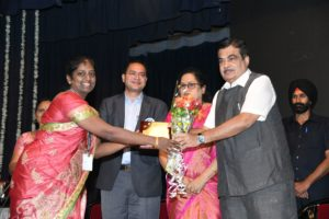 Ms.Anita Bairisetty won prize for bet non-teaching staff in SNDT University on 5th July 2018