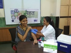 69 students of SY.BCA and TY.BCA took the Third Hepatitis B vaccination