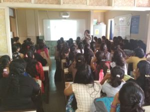 on 17th August 2018 Ms. Vinaya Vaishampayan, Assistant Professor and Coordinator for Nutrition and Dietetics delivered lecture on Breast Feeding and also the supplementary diet for mother and child was discussed for Third Year BCA.