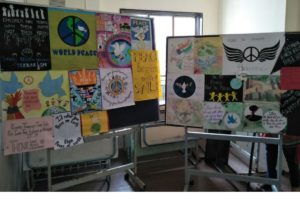 A poster and slogan competition was conducted on peace and harmony .