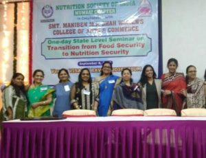 "8th September - Nutrition Department of Dr. B.M.N college of Homescience NSI seminar A one day state level seminar on 'Transition from food security to nutrition security"" was organized by Nutrition society of India – Mumbai chapter"