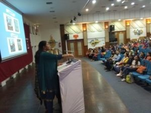 NSS Orientation was given by Dr Roma Gandhi NSS PO