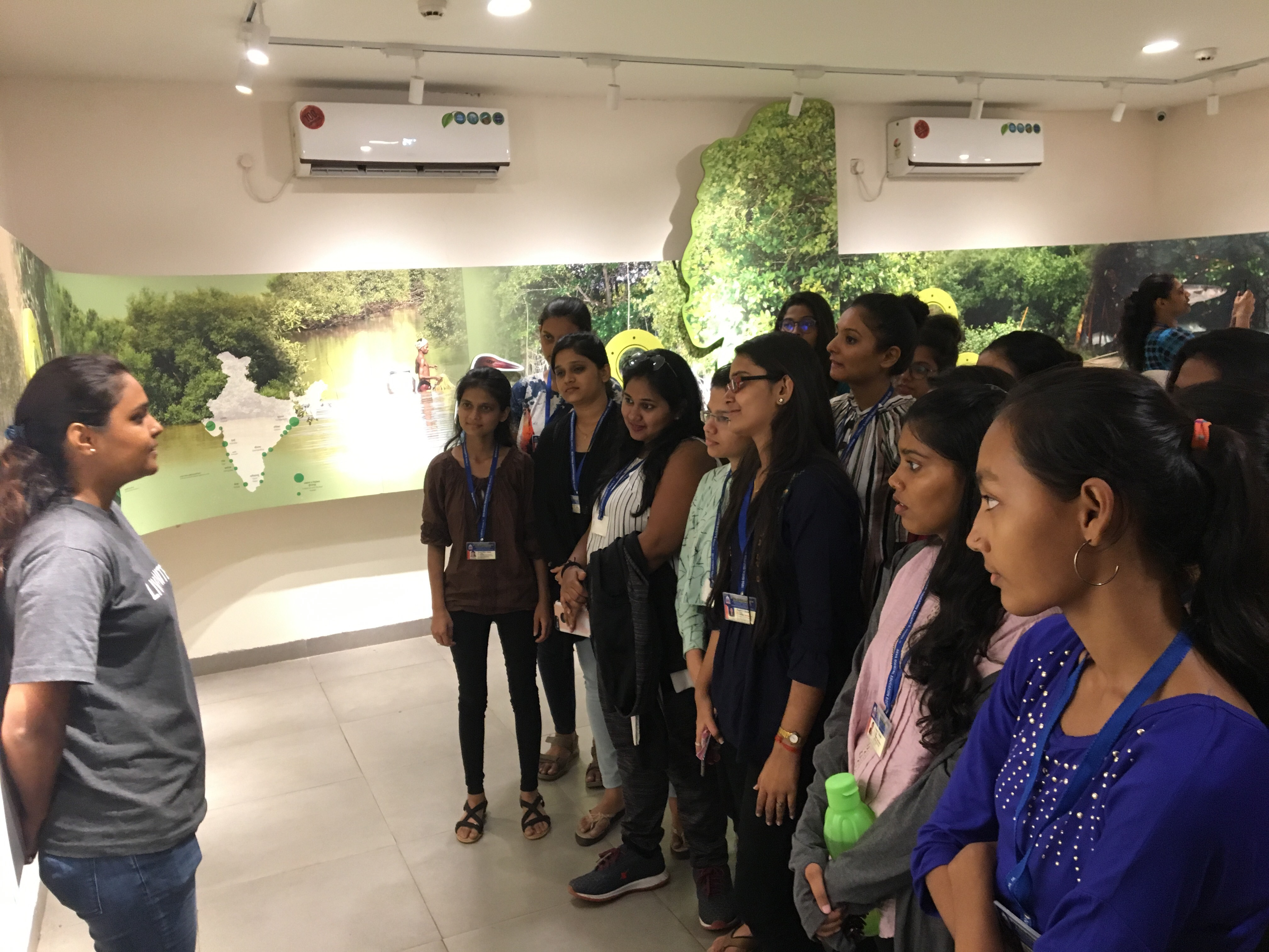 NATURE visit to observe the Parisar vikas an undertaking by stree mukhti sanghatana and to study the mangroves at the 'coastal and marine biodiversity centre at Airoli was organised by Environment Sensitization Commitee and NSS unit