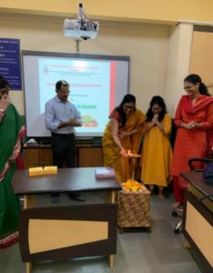 Inauguration of the STC in Onconutrition by the coordinator_Ms. Paulomi Desai and faculty