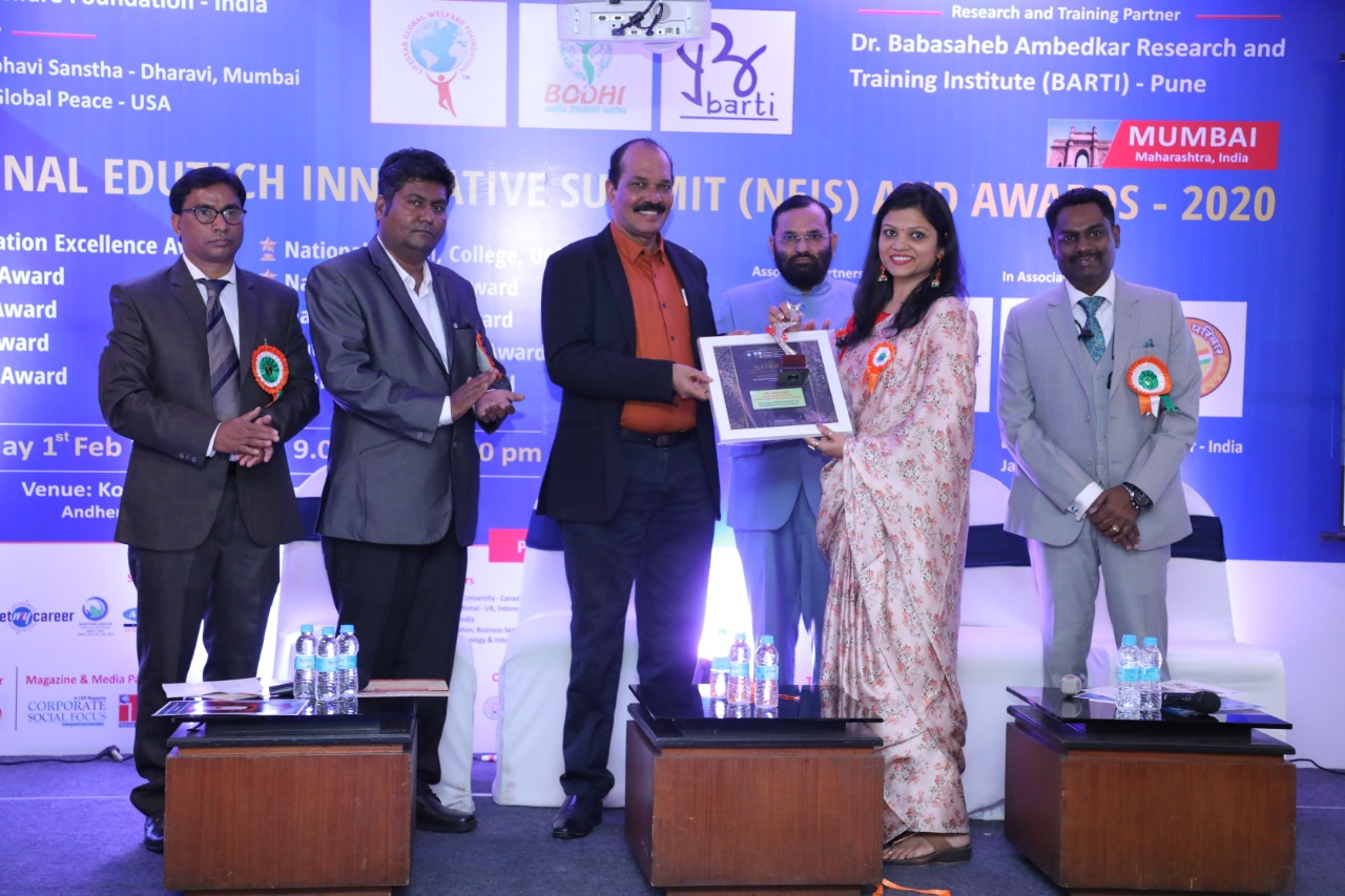 Heartiest congratulations to Ms. Neetu Singhi, BCA Faculty and Alumna who got awarded for