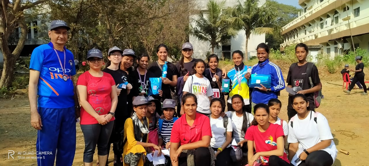Students and Staff participated in various events like running, relay, three-legged race, throwball, tug of war, etc.