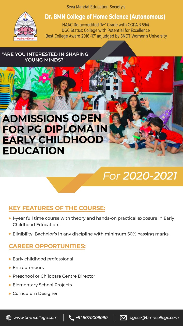 1-year P.G. Diploma in Early Childhood Education